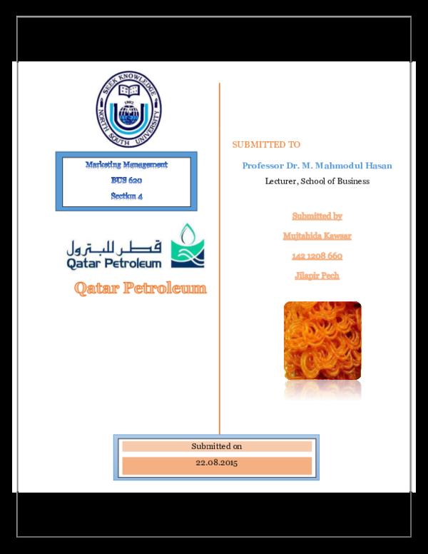 PDF) Report on Qatar Petroleum | Mujtahida Kawsar - Academia edu