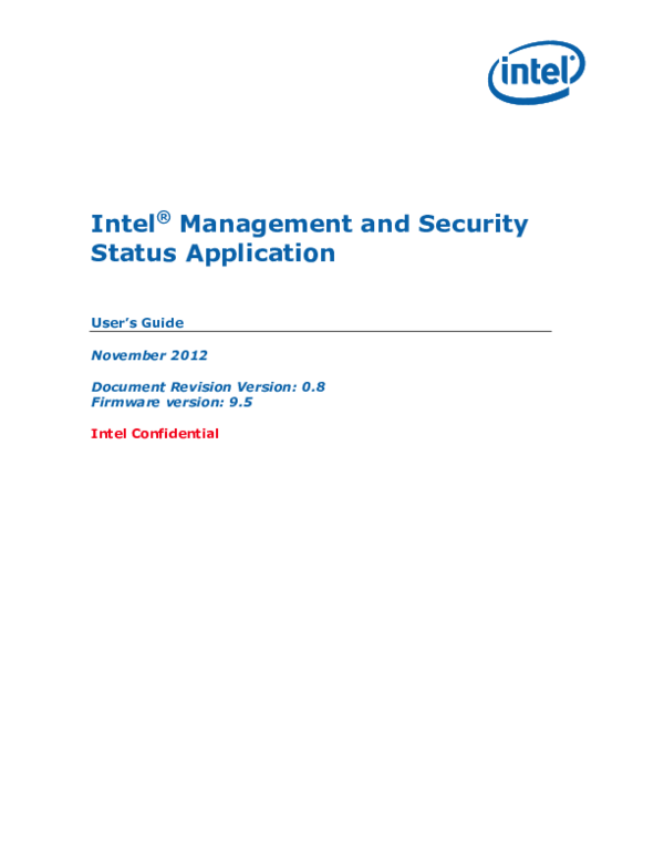 PDF) Management and Security Status Application User's Guide