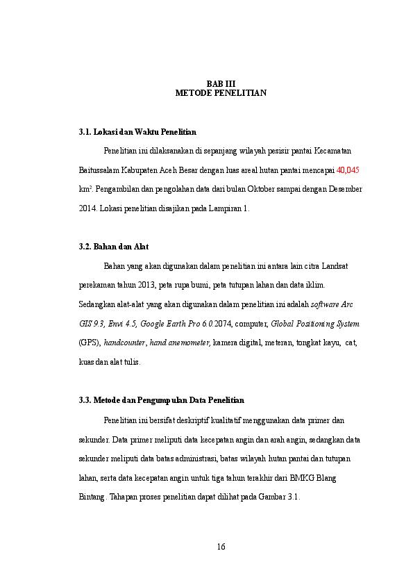 Doc Bab Iii Metode Penelitian 3 1 Lokasi Dan Waktu Penelitian Rudi Fadhli Academia Edu