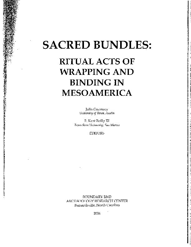 PDF) Introduction to the volume Sacred Bundles: Ritual Acts