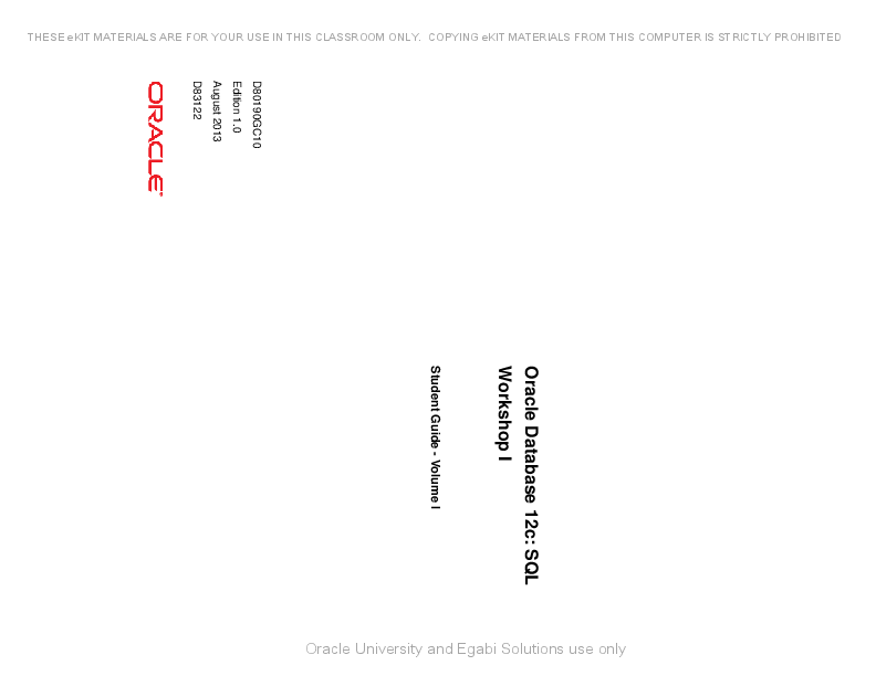 Pdf student oracle sql guide
