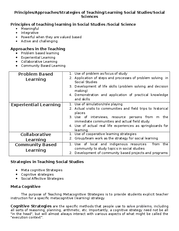DOC) Principles/Approaches/Strategies of Teaching/Learning