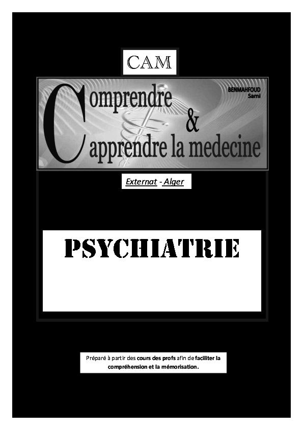 PDF) CAM psychiatrie (Résumé) | BENMAHFOUD Sami - Academia.edu