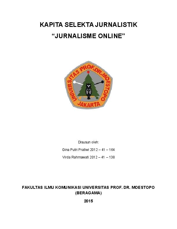 Doc Makalah Kapita Selekta Jurnalistik Ardito Kurniawan Academia Edu