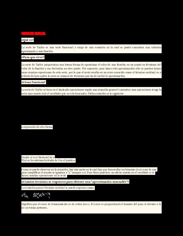 Doc Series De Maclaurin Y Taylor Zandra Bazan Academia Edu