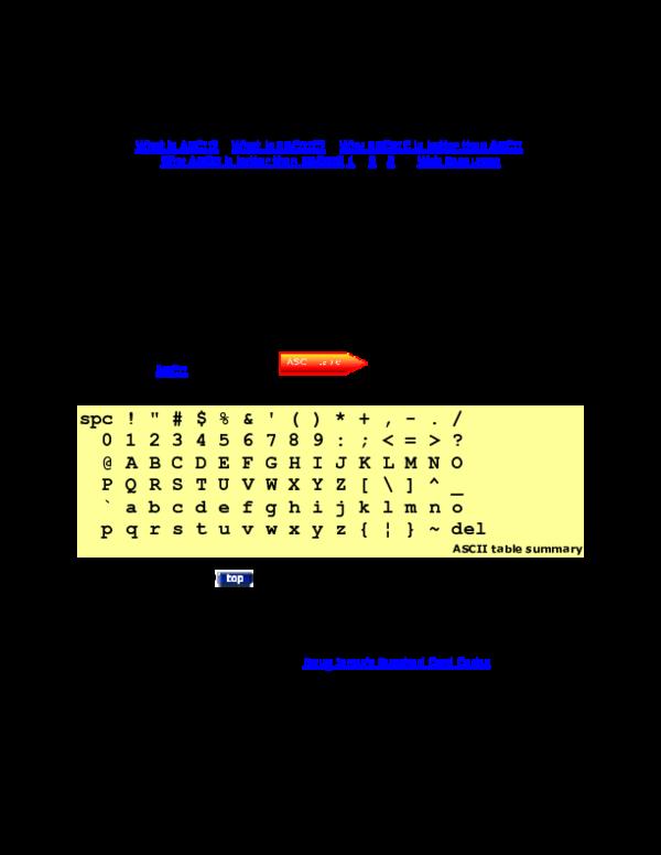 DOC) ASCII and EBCDIC Compared What is ASCII | Tendai