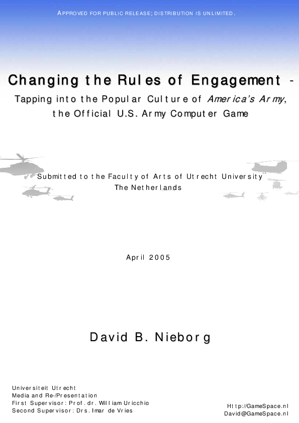 PDF) Changing the rules of engagement: Tapping into the