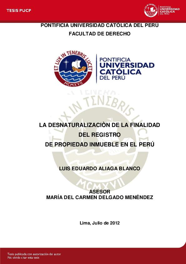 Pdf Pontificia Universidad Católica Del Perú Facultad De