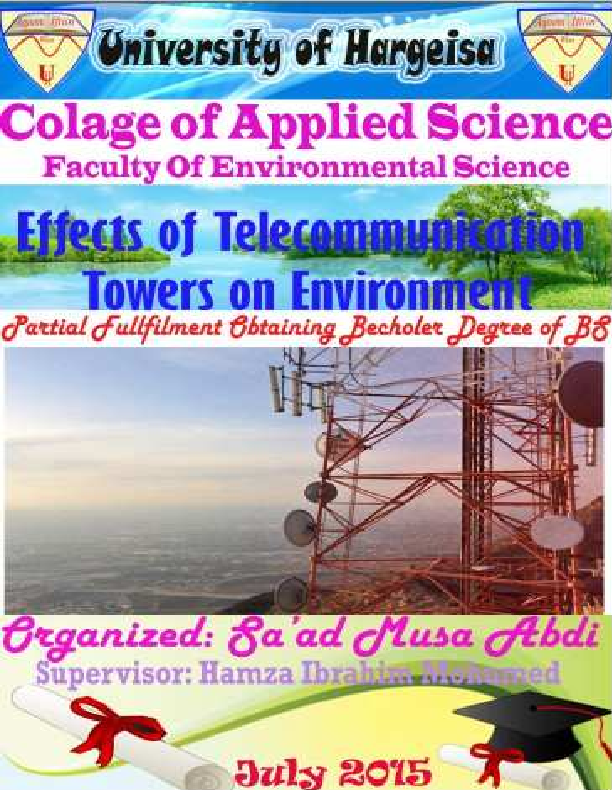 PDF) Effects of telecommunication towers on environment