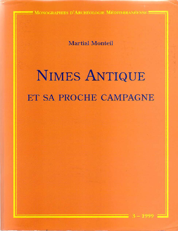 Pdf Monteil M 1999 Nîmes Antique Et Sa Proche Campagne