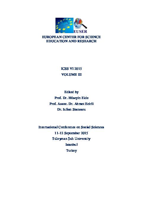 PDF) 6th ICSS 2015 Proceedings Book Vol 3 Draft 3 | European
