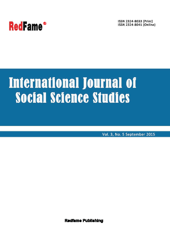 International Journal of Social Science Studies, Vol  3, No