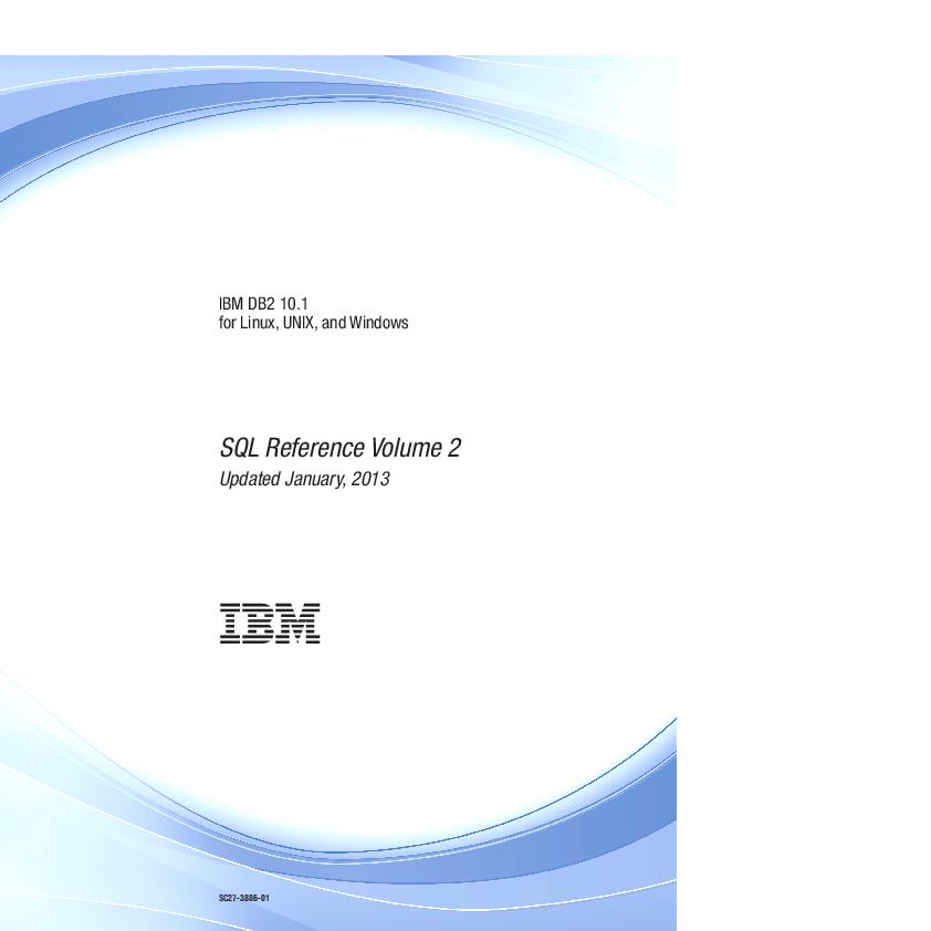 PDF) DB2 SQL Reference manual vol 2 | diego diamanti