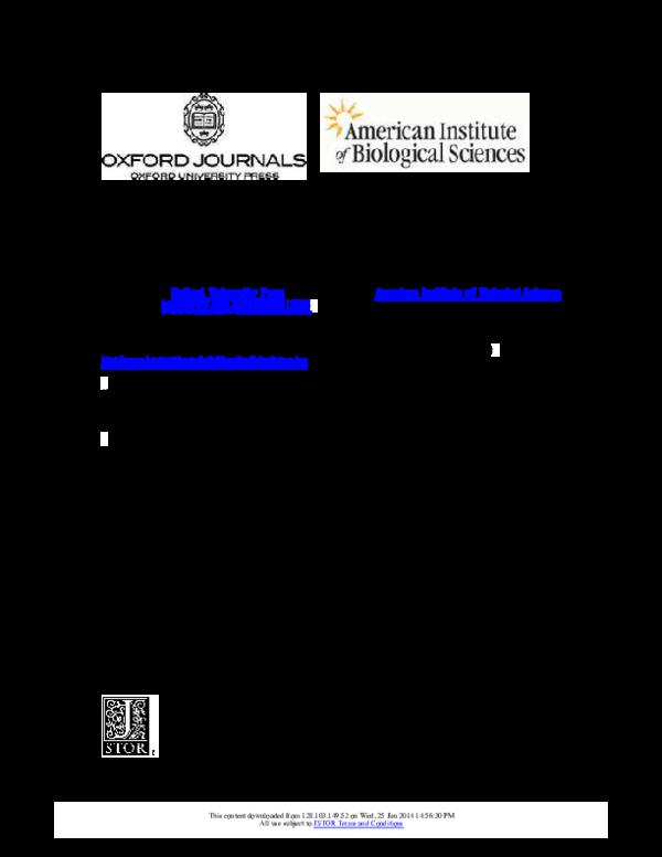 PDF) Symbiosis The Biology of Symbiosis D  C  Smith A  E  Douglas