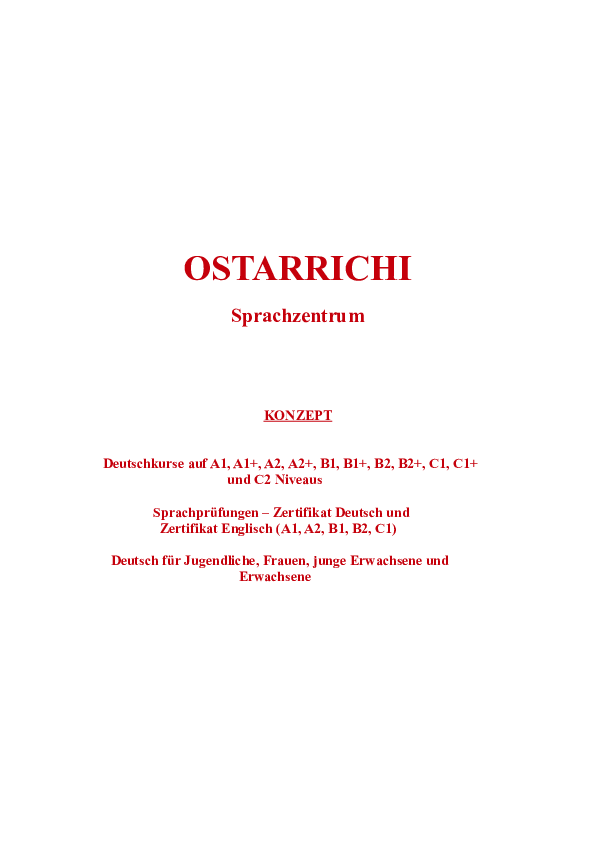 Pdf Ostarrichi Sprachzenrtum Languages Center Ostarrichi
