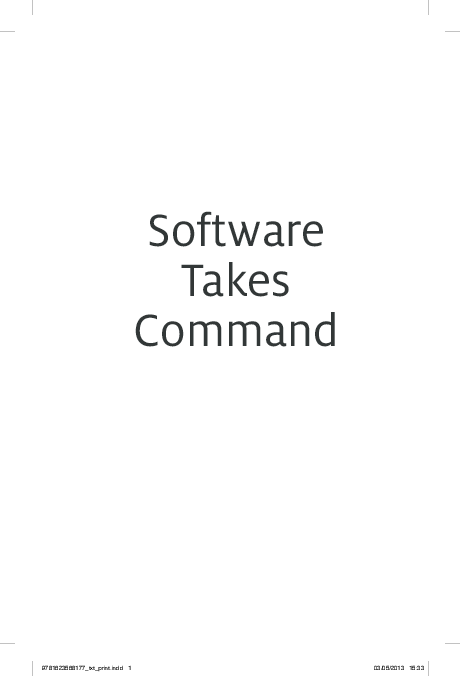 PDF) Software Takes Command | Lev Manovich - Academia edu
