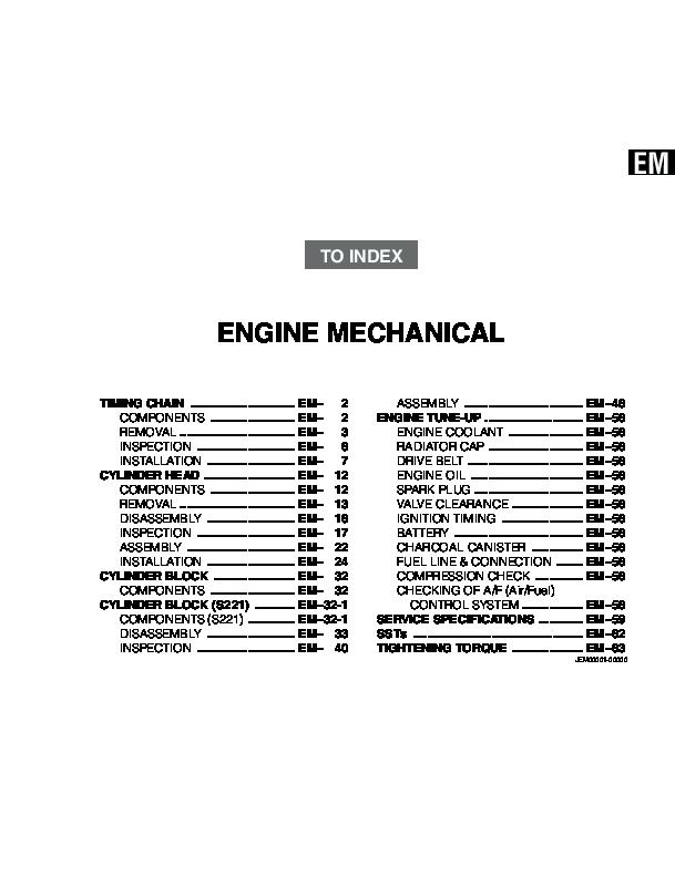 TOYOTA RUSH Mechanical Manual -3sz-ve | Jimmy Rachmat - Academia edu
