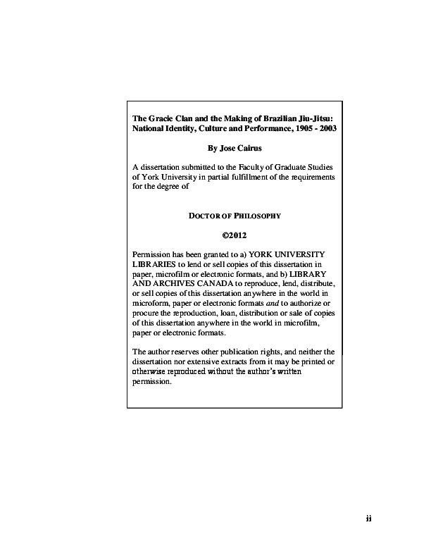 PDF) The Gracie Clan and the Making of Brazilian jiu-jitsu: National