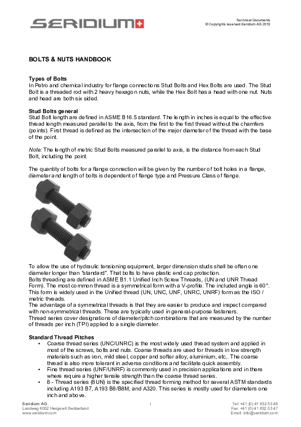 iso metric screw thread and fastener handbook