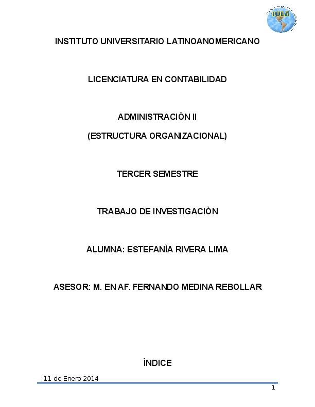 Doc Trabajo Final Estructura Organizacional Estefania