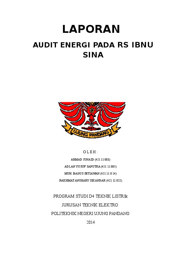 Doc Tugas Audit Energy Rs Inbu Sina Nur Idah Academia Edu