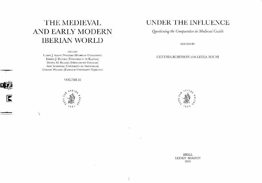 Eschatology Or Biography Alfonso X Muhammads Ladder And A Jewish