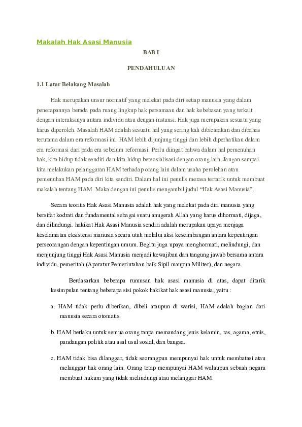 Doc Makalah Hak Asasi Manusia Rahel Kereh Academia Edu