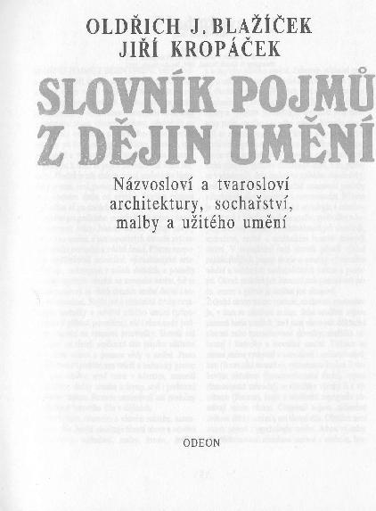 ebd77d65043 Blažíček - Kropáček Slovník pojmů z dějin umění   Eva Andrejsová ...