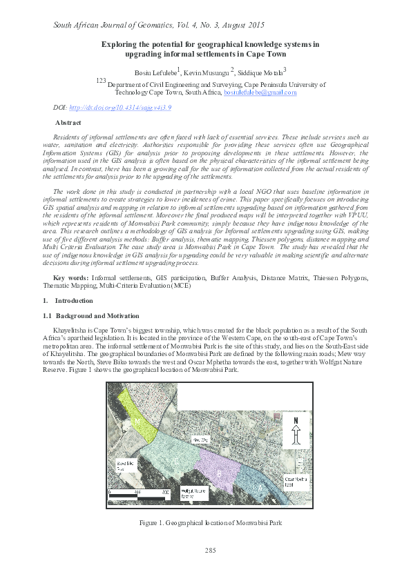 PDF) Exploring the potential for geographical knowledge