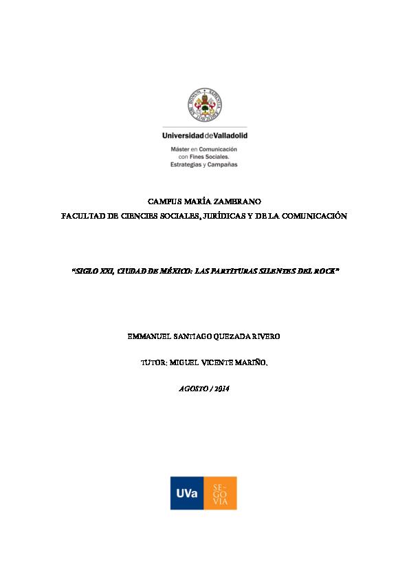 Pdf Ciudad De Mexico Siglo Xxi Las Partituras Silentes Del Rock Emmanuel Quezada Academia Edu