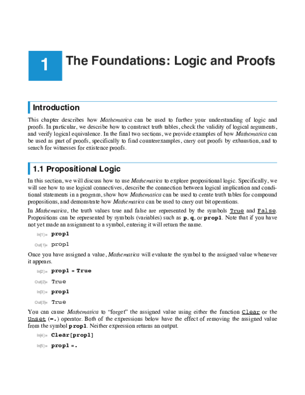 PDF) The Foundations: Logic and Proofs | jane fu - Academia edu
