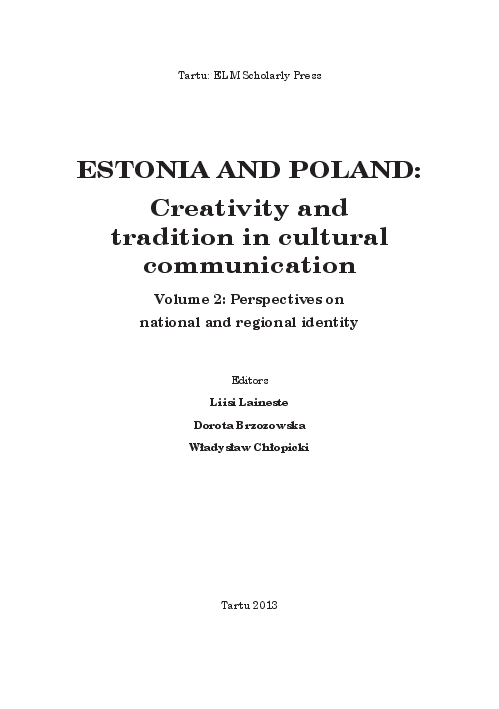Pdf Estonia And Poland Creativity And Tradition In Cultural