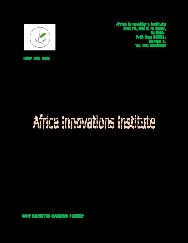 DOC) Investing in High Quality Tapioca Flour in Uganda : The