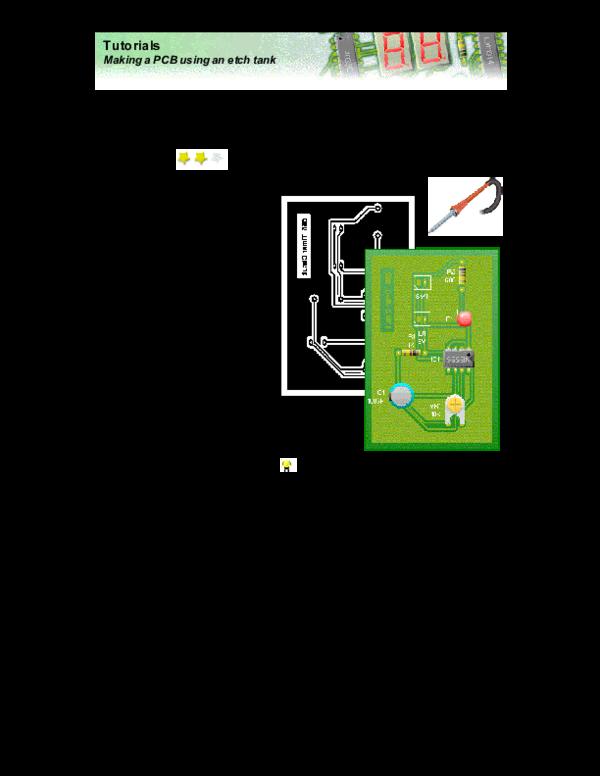 PDF) Tutorials Making a PCB using an etch tank | Nadezhna