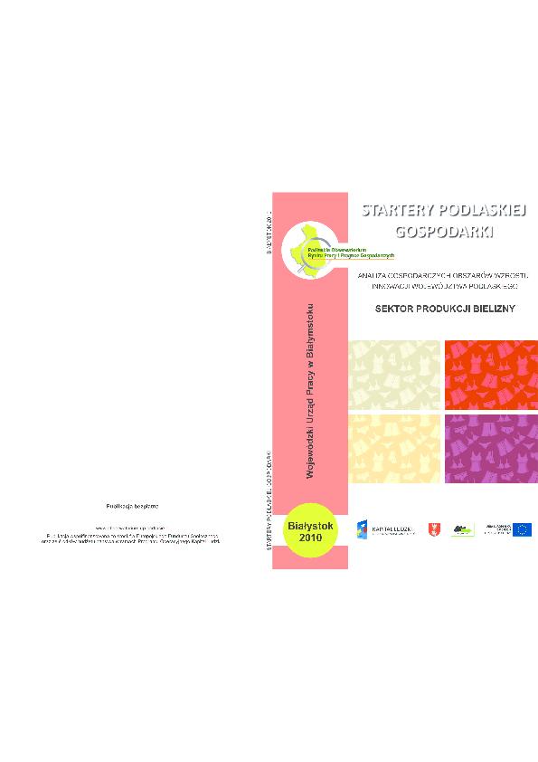5e2dcbc751df0e PDF) Startery podlaskiej gospodarki – analiza gospodarczych obszarów ...