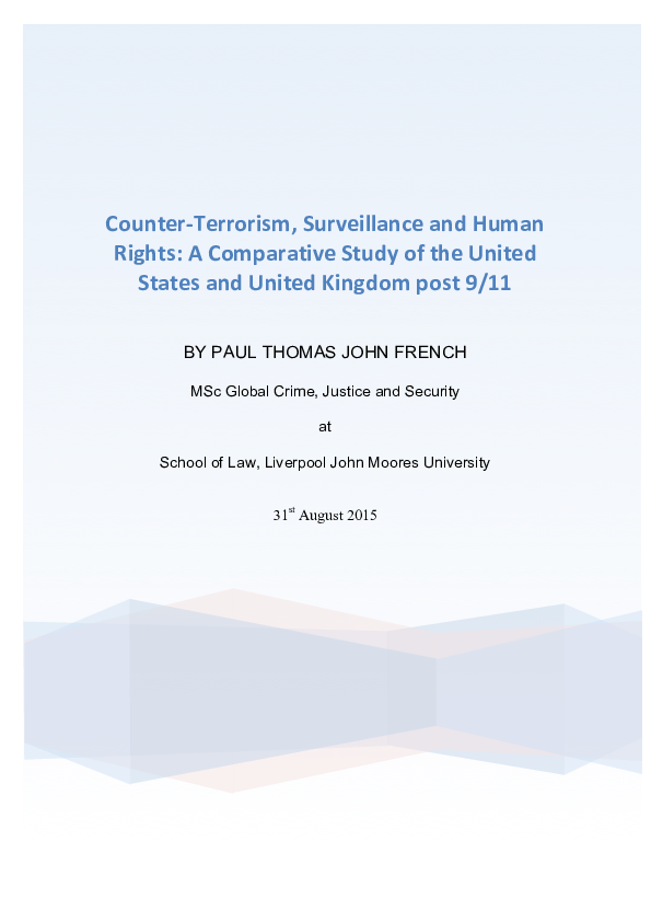 PDF) Counter-‐Terrorism, Surveillance and Human Rights: A