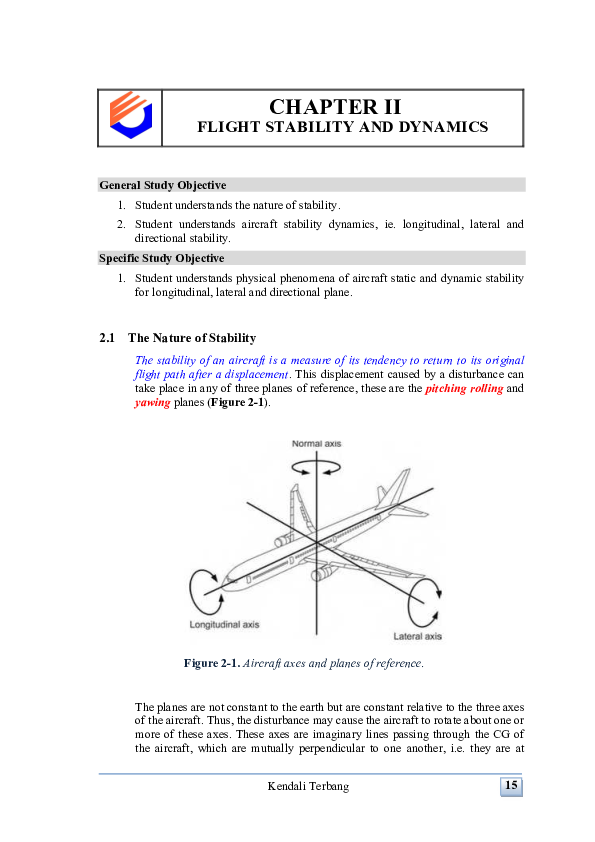 PDF) FLIGHT STABILITY AND DYNAMICS General Study Objective