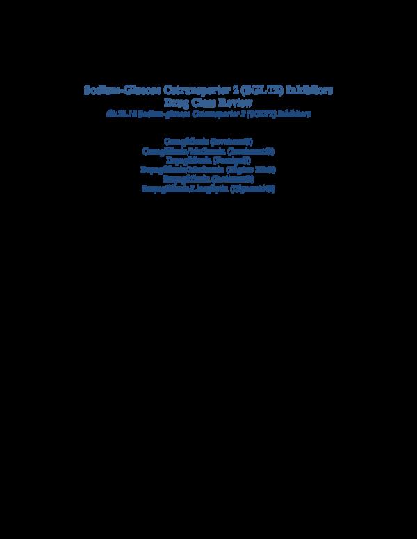 PDF) 2015 04 SGLT2 Inhibitor Drug Class Review | RIZAL FAUZI