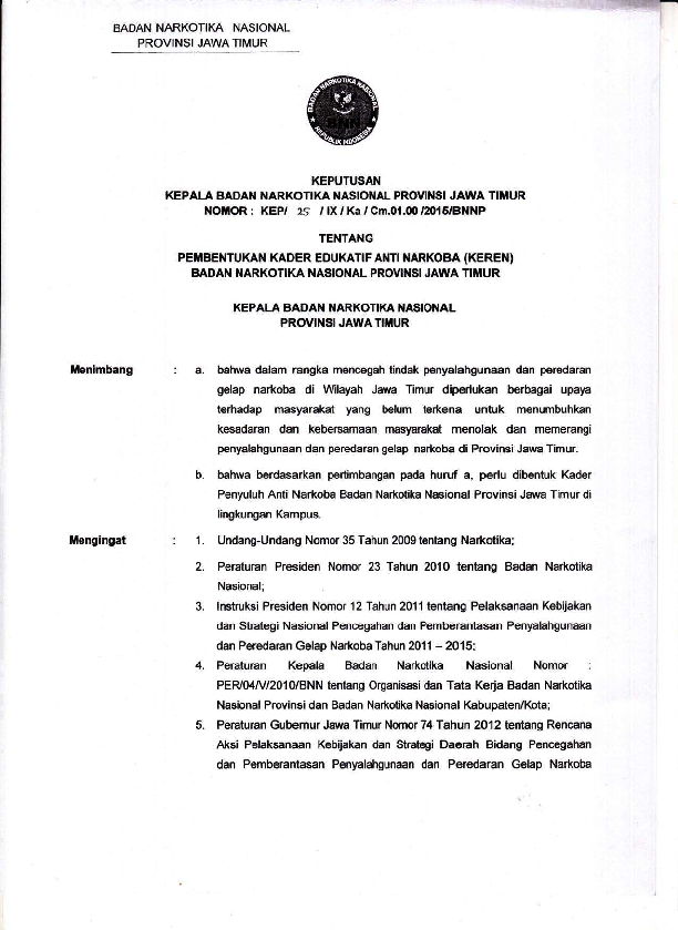 Sk Kader Edukatif Anti Narkoba Bnnp Jatim Samik Bin Makki