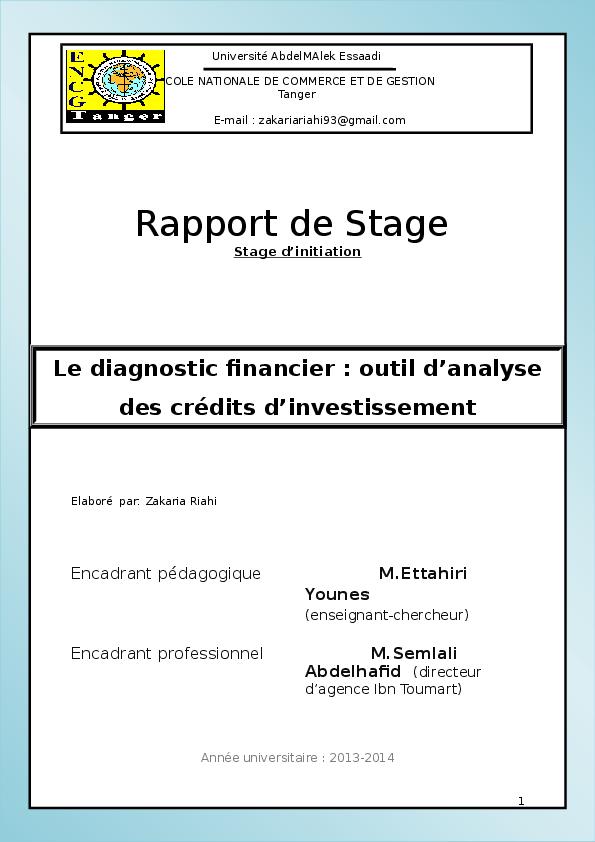 doc  rapport de stage dans la banque populaire