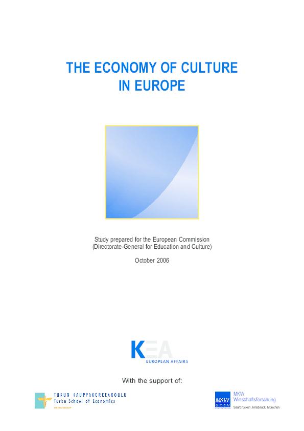 PDF) Economy of Culture in Europe   Saara Taalas - Academia edu