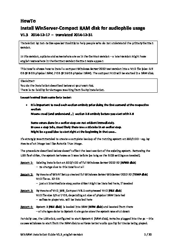 PDF) WinRAM Installation Guide V1 3_english version HowTo Install