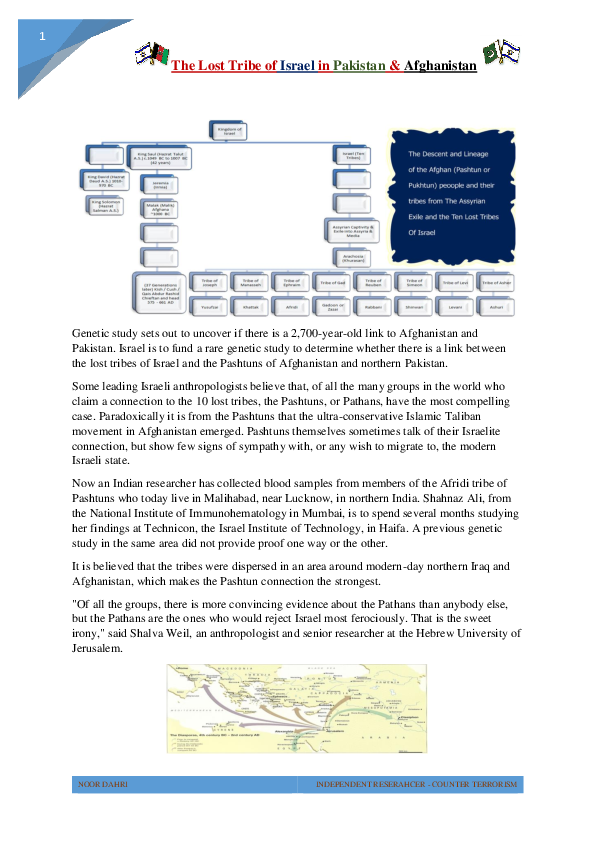 PDF) The lost tribe of Israel in Pakistan & Afghanistan