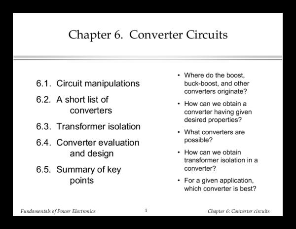 PDF) Chapter 6: Converter circuits 6 1  Circuit Manipulations L 1