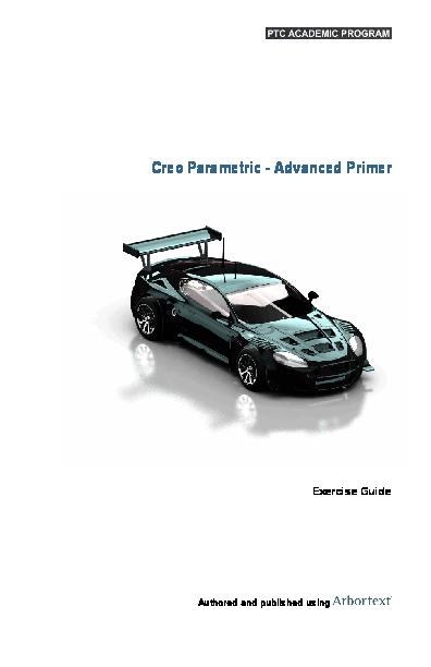 PDF) Creo Parametric -Advanced Primer Exercise Guide | Domen Resnik