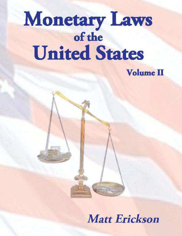 PDF) Monetary Laws, Volume II | Matt Erickson - Academia edu