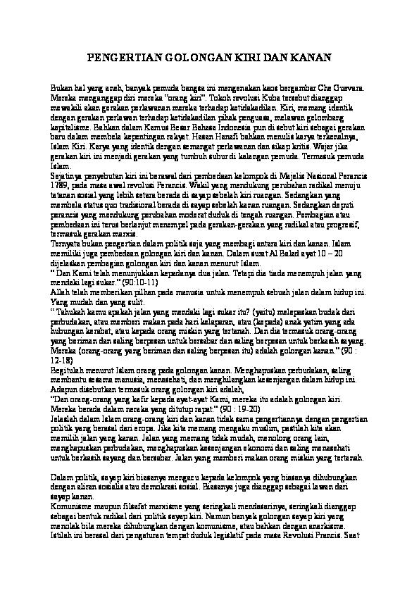 Doc Pengertian Golongan Kiri Dan Kanan Basuki69 Muari Academia Edu
