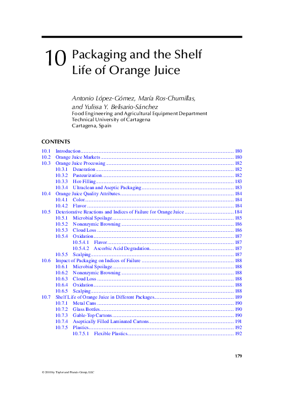 PDF) Packaging and the Shelf Life of Orange Juice | Vương