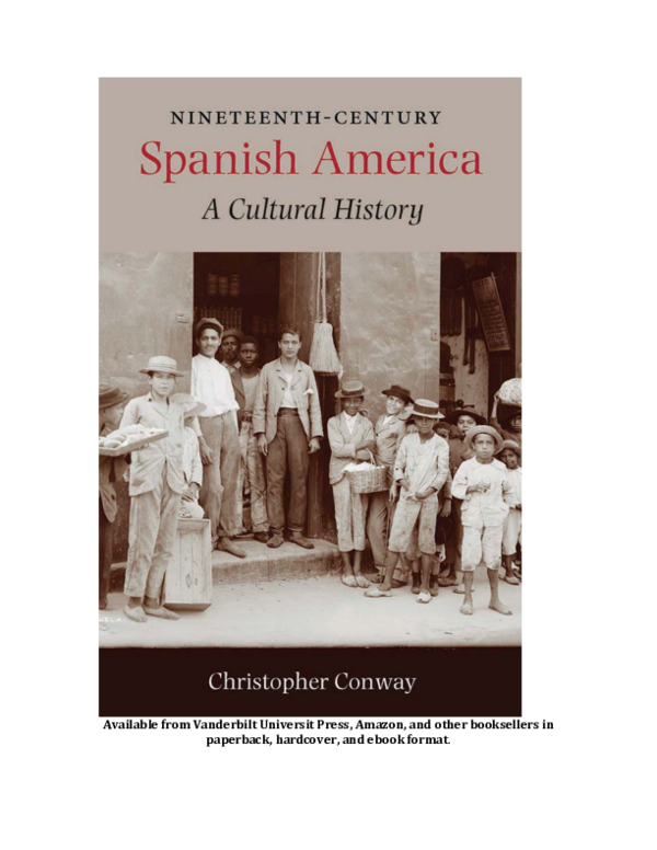 Nineteenth-Century Spanish America: A Cultural History [Preview PDF