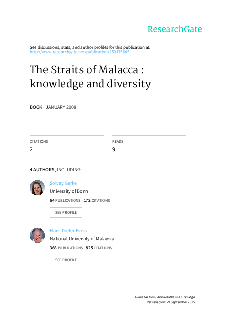 3dec6483e26 PDF) The Straits of Malacca  Knowledge and Diversity